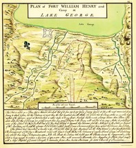 Fort William Henry Lake George Plan - Eyre 1750 - 23.00 x 25.04 - $36.95+