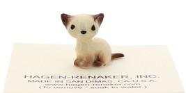Hagen-Renaker Miniature Cat Figurine Tiny Siamese Kitten Sitting Chocolate Point