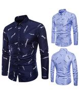 Mens Long Sleeve Oxford Formal Casual Suits Slim Fit Tee Dress Shirts Bl... - $41.52