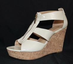 Michael Kors damita platform wedge sandals ivory Patent Leathersize 11 - $53.90