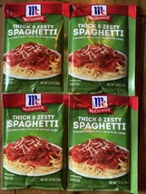 McCormick Thick And Zesty Spaghetti Sauce Mix 1.37oz  Exp. 2022 - 4 Packs - $22.77