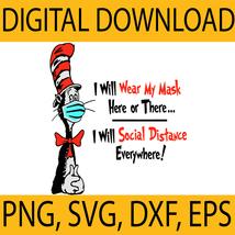 Dr Seuss Digital Download, Dr Seuss Face Mask svg, Cat in the hat mask s... - $1.19
