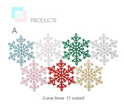 White Plastic Snowflake For Home Christmas Tree Ornament Decoration 8/10... - $4.62+