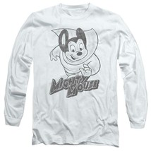 Mighty Mouse superhero Retro Saturday cartoon classics long sleeve tee CBS1136 image 1