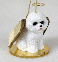 BICHON FRISE  ANGEL DOG CHRISTMAS ORNAMENT HOLIDAY Figurine - $12.98