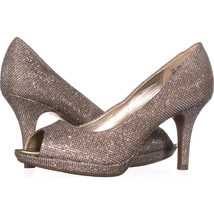 Bandolino Supermodel Peep-Toe Pump Heels 402, Gold, 7 US - $31.67