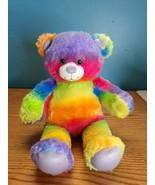 """Build-A-Bear 16"""" Rainbow Tye Dye Teddy Bear - $14.80"""