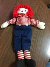 Vintage Knickerbocker Toy RaggedyAndy 15 inch soft dolls B96 - $9.74