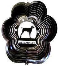 12 in stainless steel black Weimaraner dog USA 3D garden wind spinner, s... - €26,12 EUR