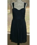 Cache Size 12 Navy Blue Sparkle Sleeveless Party Short Dress Prom Weddin... - $48.44