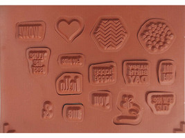 Stampin' Up! Honeycomb Hello Rubber Cling Stamp Set #134078 image 2