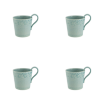 Bordallo Pinheiro Rua Nova Mug Morning Blue - Set of 4 - $100.00