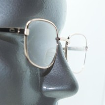 Reading Glasses Polished Gold Metal Frame Classic Petite Rectangle +3.50 Lens - $19.00