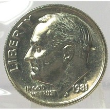1981-P Roosevelt Dime MS65 In the Cello FULL BANDS #563 - $4.99