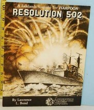 Resolution 502 Falklands Scenario for Harpoon Adventure Games 1982 - $14.85