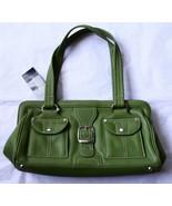 NWT Tignanello Santa Cruz Satchel Peridot Green Handbag Bag Purse 604207... - $69.25