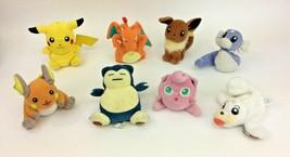 Nintendo Pokemon Evee Pikachu Charizard Plush Jigglypuff Raichu Snorlax ... - $67.58
