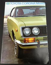 Vtg 1970s Toyota Corona Mark II Sales Brochure Catalog - $8.86