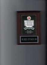 BUSCH STADIUM PLAQUE BASEBALL ST. LOUIS CARDINALS MLB - $3.95
