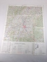 """Korea Army Map Weonju 29""""X 22"""" Total 1981 In Korean And English One Sided - $39.99"""
