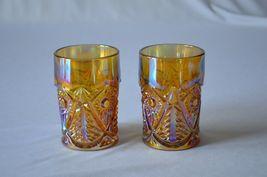 2 L E Smith Carnival Glass Valtec Tumblers image 4