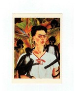 "ART CARD - "" SELF-PORTRAIT WITH MONKEYS"" - FRIDA KAHLO  BK13 - $1.96"