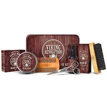 Beard Care Kit for Men- Sandalwood- Ultimate Beard Grooming Kit includes 100% Bo image 2