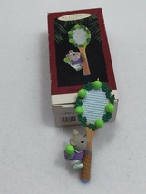 Vintage 1995 Hallmark Keepsake Ornament Tennis Anyone Mouse Racket 22167 - $14.84