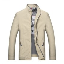 Men's Casual Jacket Stand Collar Men's Jackets Spring and Autumn Models Middle-a - $48.96