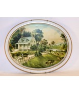 Vintage Fabcraft The American Homestead Summer Currier and Ives 1868 Metal Tray - £9.07 GBP