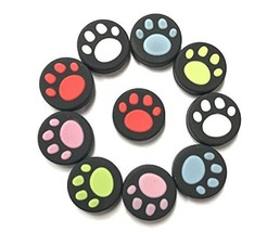 VAKABOX Cat Paw Silicone Thumbstick Joystick Caps Cover for Nintendo Swi... - $9.41