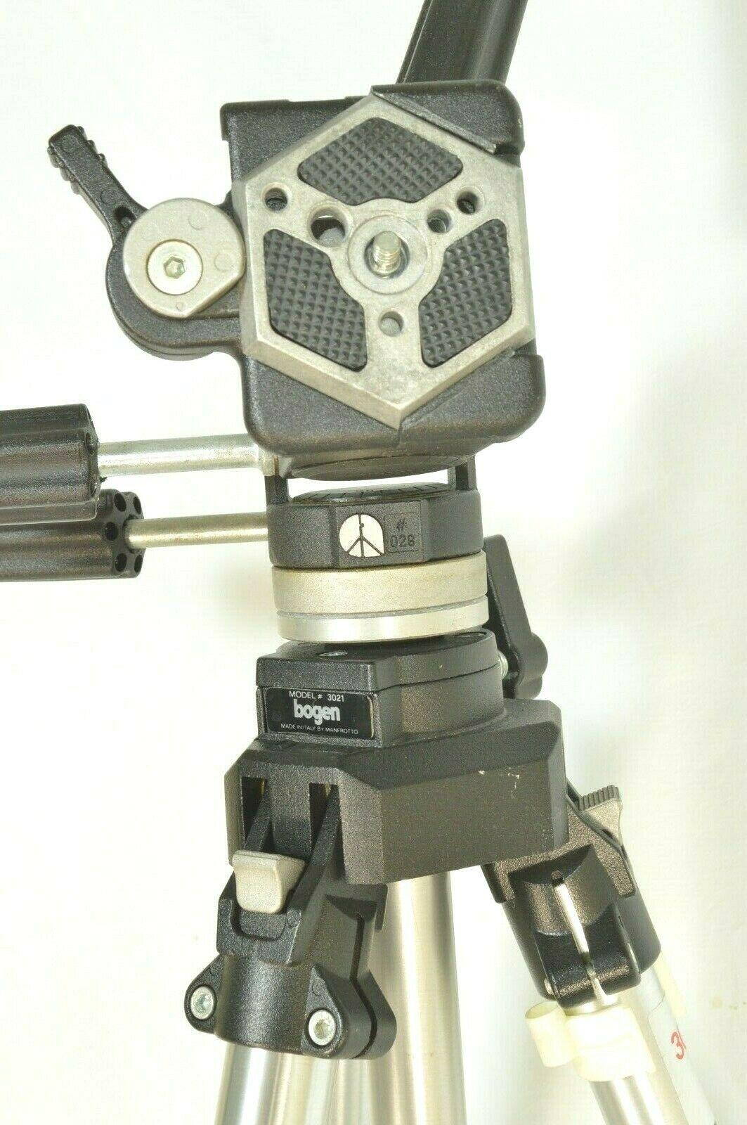 Manfrotto Bogen 3021 pro camera tripod +3047 Deluxe 3-way Pan/tilt Head image 5