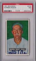 1951 Bowman Warren Rosar #236 PSA 7 P416 - $33.79