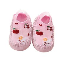 Toddler Baby Cartoon Thick and Warm Non-Slip Floor Socks 1 Pair, Pink