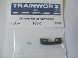 Trainworx Stock #183-5 Snowplow Common Flat Top CNW Green N-Scale image 2