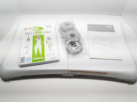 Nintendo Wii Balance Board RVL-021 with Wii Fit PLUS Game and feet/risers - $19.59