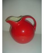 Hall China USA Red Ball Pitcher Jug Superior Quality Kitchenware Vintage - $59.99