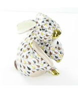 "Herend Scratching Bunny Mosaic Fishnet Hungary Porcelain 3"" New VH3CO-15387 - $354.05"
