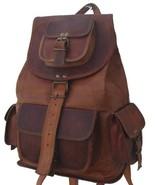 "New 50"" Handmade Genuine Rustic Soft Leather Ladies Travel Backpack Ruck... - $49.90"