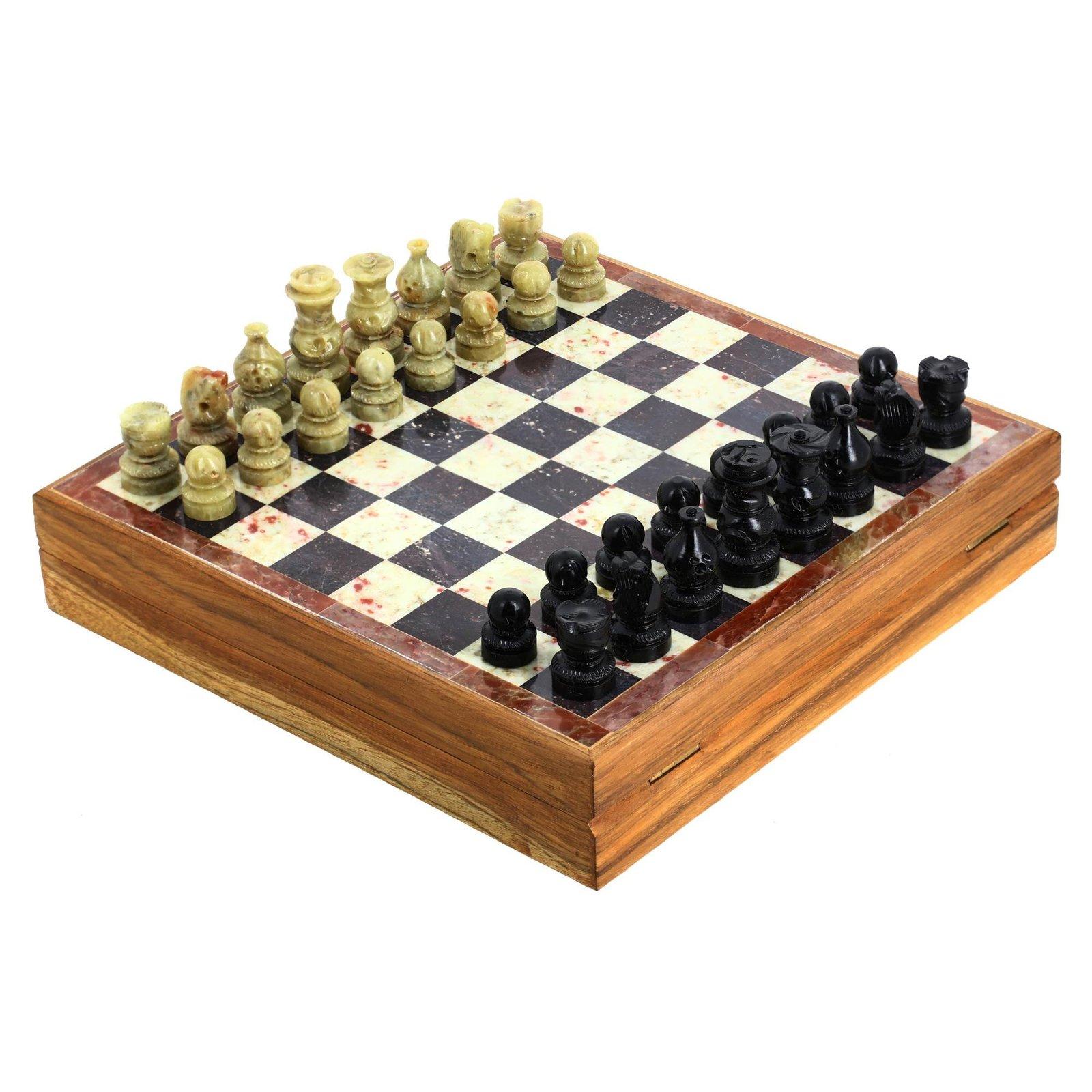 Shalinindia Rajasthan Stone Art Unique Chess Sets And