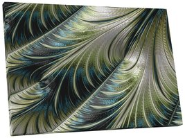 "Pingo World 0720QY9C5OG ""Shimmering Feathers Abstract"" Gallery Wrapped Canvas Wa - $158.35"