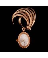 1940's Bucherer Watch brooch - vintage retro lapel pin - Chatelaine watc... - $95.00