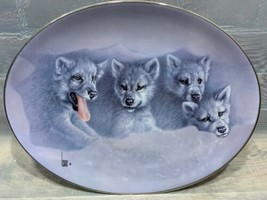 WINDOW SEAT The Wild Bunch 1998 #2118A Bradford Exchange Plate Wolf Wolves - $19.79