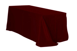 Rectangular Polyester Tablecloth Burgundy 90 x 156 inch - $46.99