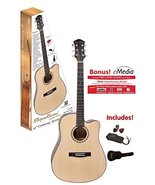 """Ashley Entertainment 6 String Acoustic Guitar Pack, Spruce Top, 41"""" Full... - $124.25"""