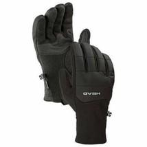 HEAD Men's Black Ultrafit Sensatec Touchscreen Fleece Lined Running Gloves XL