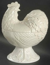 """Lenox"""" Buttler's Pantry"""" Rooster Covered 12"""" Vegetable Bowl Color Cream New - $149.40"""