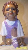 "Little Black Girl Track Star, Ceramic Figurine, Black American, 7""T Chil... - $24.00"