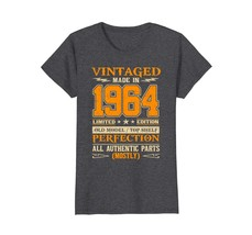 Funny Shirts - Legends Vintage Made In 1964 54th Birthday Gift 54 years old Wowe - $19.95+