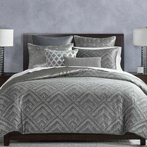 Brand NEW! Hudson Park Woven Diamond KING OR QUEEN Duvet Comforter Cover... - $49.95